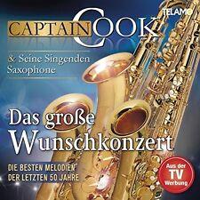 CAPTAIN COOK UND SEINE SINGENDEN SAXOPHONE - DAS GROßE WUNSCHKONZERT. 2 CD NEU