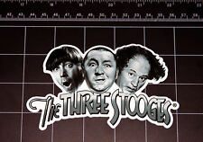 The Three Stooges Moe - Larry - Curly logo vinyl decal sticker 3 stooges