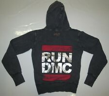 Getragen AMPLIFIED Vintage RUN DMC 80'er Hip Hop Rocker Hoodie Kapuzen Pulli S