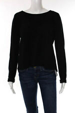 360 Cashmere Black Cashmere Long Sleeve Layered Open Back Sweater Size Small