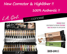 (PICK 6 PC) Authentic LA L.A. Girl HD Pro Concealer, Corrector & Highlighter