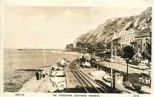 RPPC Postcard The Foreshore Southend Mumbles Swansea Bay.Wales UK