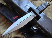 MTECH FIXED BLADE BOOT KNIFE 9 INCH OVERALL DOUBLE EDGE BELT CLIP NYLON SHEATH