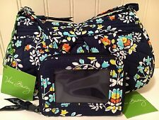 Vera Bradley FRANNIE & ZIP-AROUND ID CASE CHANDELIER FLORAL Crossbody Bag Wallet