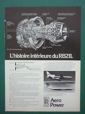 12/76 PUB ROLLS-ROYCE RB211 BOEING 747 BRITISH AIRWAYS DC-10 TWA FRENCH AD