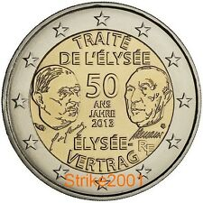 2 EURO COMMEMORATIVO FRANCIA 2013 Trattato Eliseo