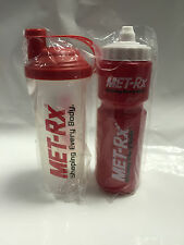 MET-RX PROTEIN CREATINE SHAKER MIXER BOTTLE & WATER BOTTLE - SHAKER