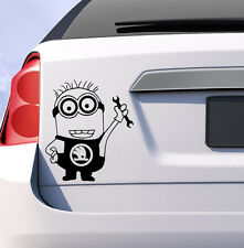 Skoda minion car vinyl fabia octavia rapid sticker decal  uk funny gift humor