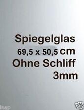 Spiegelglas 69,5 cm x 50,5 cm Ohne schliff 3mm für Rahmen ersatzspiegel Spiegel