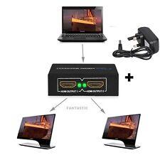 2 Salida 1 Entrada HDMI Distribuidor Amplificador 2 Vías Caja De Conmutación Hub