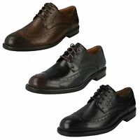 MENS CLARKS LACE UP FORMAL SMART PUNCHED BROGUE LACE UP SHOES DORSET LIMIT