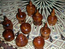10x New Thuya Wood Box Turned Made In Morocco Hand Carved