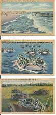 USMC MILITARY POSTCARDS ORIGINAL WW2 PERIOD CAMP LEJEUNE NC.