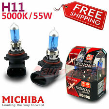 MICHIBA H11 5000K 55W Xenon WHITE Light Headlight Bulb for NISSAN Front Fog Lamp