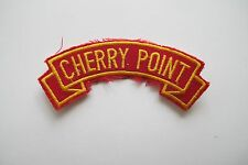 #6727 CHERRY POINT Word Tag Embroidery Sew On Applique Patch