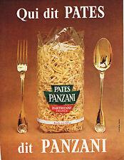 PUBLICITE ADVERTISING 014   1965   PANZANI   pates