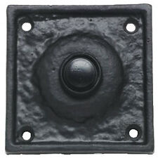 Victorian square Door Bell Switch in Black Cast Iron (AB212)