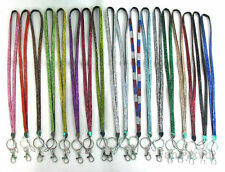 New Bling, Rhinestone, Crystal,  Custom Lanyard & ID Badge w/ Key Holder 10 pcs