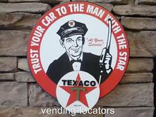 Texaco Sign Plaque Man Cave Oil Pump Hat Gasoline Gas Shop Emblem Motor New