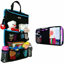 *NEW* PREMIUM Backseat Car Organizer Kids Toy Storage + Bonus Visor Organizer