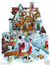 Jigsaw Puzzle 1000-Piece SunsOut Christmas At Our House Shaped And Santa SP95539