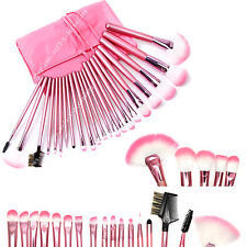 22 Piece  Soft Synthetic Hair Makeup Brushes Brush Set Kit Leather Case