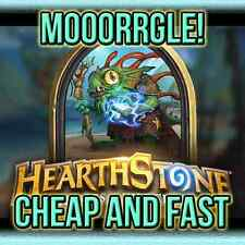 Hearthstone Hero Morgl the Oracle Shaman Portrait Refer a friend Super Fast