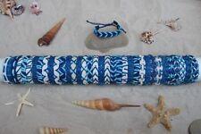 35 Piezas Nuevo Mezcla de Cuero Surfista pulseras en colores azul al por mayor BNIP/b016