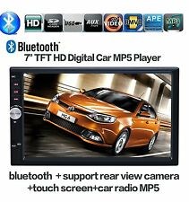 "7"" HD Bluetooth Touch Screen Car Stereo Radio 2 DIN FM/MP5/MP3/USB/AUX Player US"