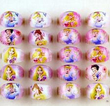 New 10x Princess Girls Kids Children Resin Lucite Rings Party bag fillers Gifts