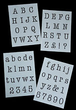 Typewriter Alphabet Stencil / letters on 4 x A4 Sheets 40mm CAP HEIGHT Alpha 8