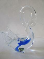 VINTAGE Murano Glas Schwan-Sommerso-gelabelt