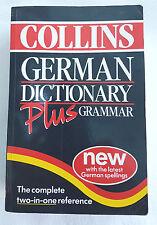 COLLINS GERMAN DICTIONARY PLUS GRAMMAR bilingual BARGAIN  RRP£9.99 paperback