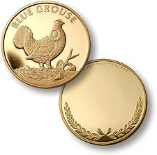Blue Grouse Challenge Coin Gold Wildlife Token Bronze Bird Dendragapus obscurus
