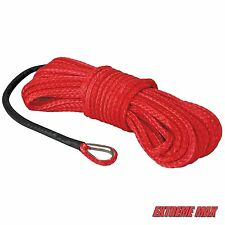 "Extreme Max ""The Devil's Hair"" Synthetic ATV / UTV Winch Rope - Red"