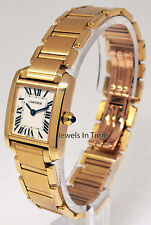 Cartier Tank Francaise Ladies 18k Yellow Gold Quartz Watch 2385