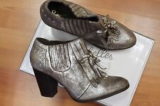 NEW Seychelles Anthropologie Menswear Fringe Booties Pumps Shoes 9.5 M
