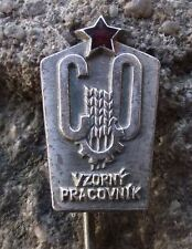 Czech Civil Defense Defence Cold War Excellent Worker Communist Award Pin Badge