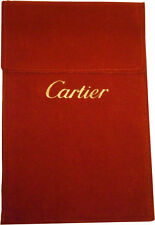 Cartier Red Suede Travel Service Watch Jewellery Pouch