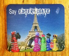 Dr Who Daleks as Tourists in France Mousepad