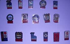 Lot Complet Des 16 Pin's Coca Cola / Jeux Olympiques D'hiver