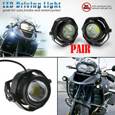 2x Motorcycle Bike Chopper Cool LED DRL Driving Fog Head Run Lights Add on Lamps