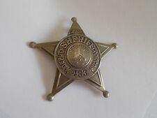 OBSOLETE Special Deputy Sheriff 5 Point Star Badge Cook County Meyer & Wenthe