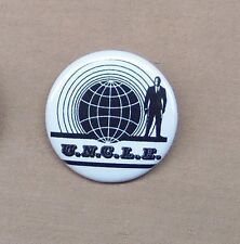 "Man From U.N.C.L.E. Classic Logo Button 1.25"" Pin Badge UNCLE Spy TV 60s Repro"