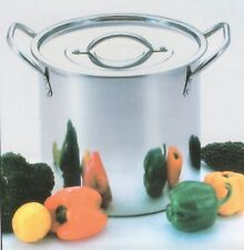 NEW DEEP STAINLESS STEEL STOCK SOUPPOT STOCKPOT CATERING BOILING CASSEROLE 16.5L