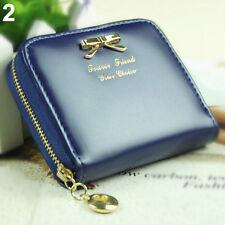 Trendy dames tiener portemonnee blauw met ritssluiting & creditcard ruimte