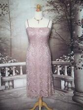 14 Abito OTTO Phase Perline & Paillettes Rosa in pizzo da sera/Gatsby/Downton 20s Flapper?