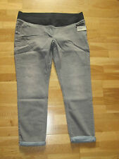 next maternity grey relaxed skinny leg denim jeans 20 reg brand new with tags