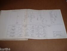 1981 Ford C-series C700 C800 C7000 wiring diagram schematic SHEET service manual