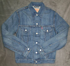 NEW LEVIS TRUCKER DENIM JEAN JACKET IN LT STONE  SZ M MEDIUM